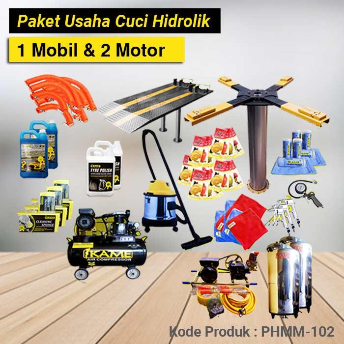 PHMM 102 PAKET CUCI HIDROLIK 1 MOBIL & 1 MOTOR